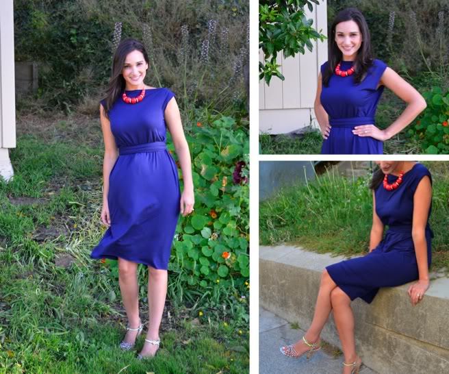 Easy Fashionably Made DIY Blue Dress