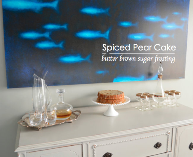 spiced pear cake recipe runny brown sugar frosting