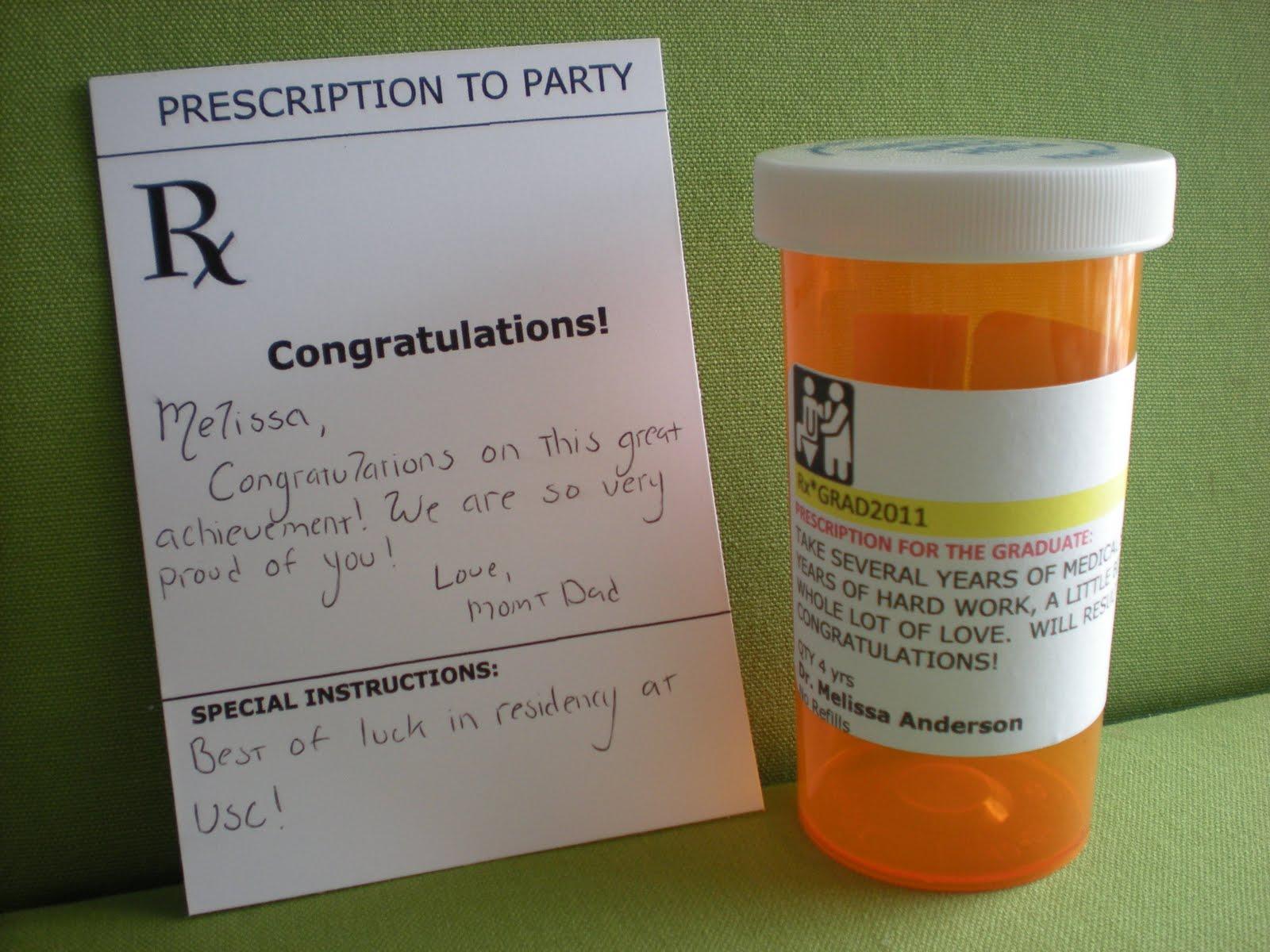 Congratulations Winter Grads Prescription Bottle Cards