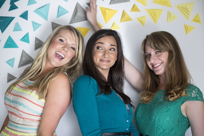 They So Loved Events DIY 3D Triangle Party Backdrop as seen on wedding Chicks