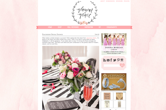 Glamour and Grace Bridal Shower Inspiration